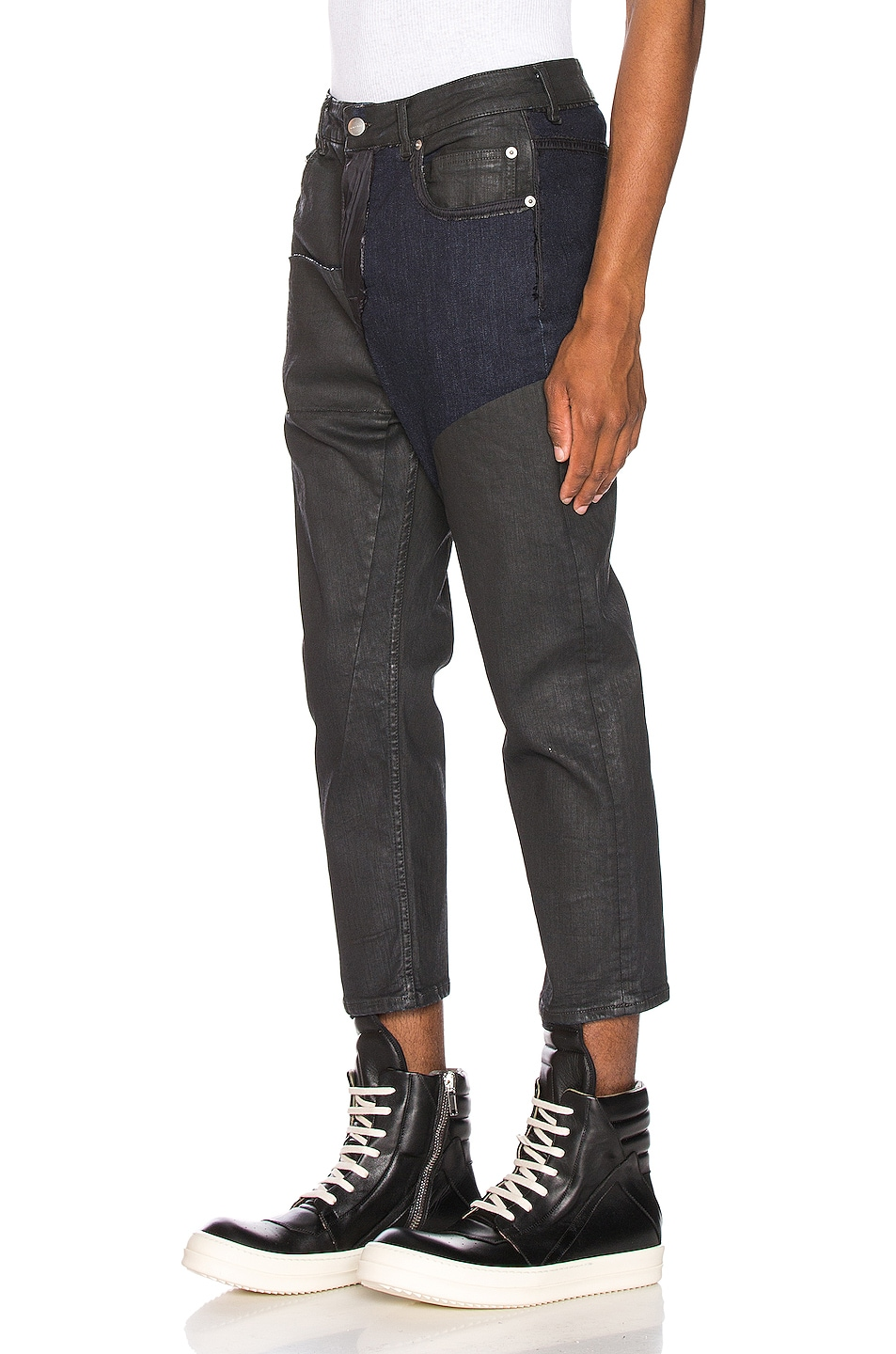 Image 3 of Rick Owens Babel Cropped Jeans in Black