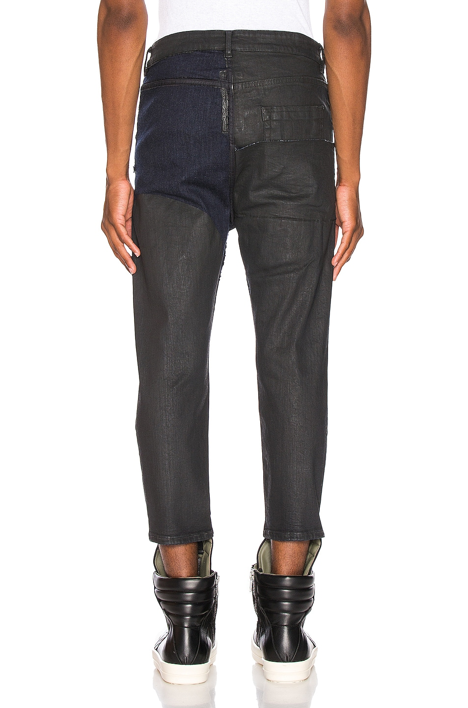 Image 4 of Rick Owens Babel Cropped Jeans in Black