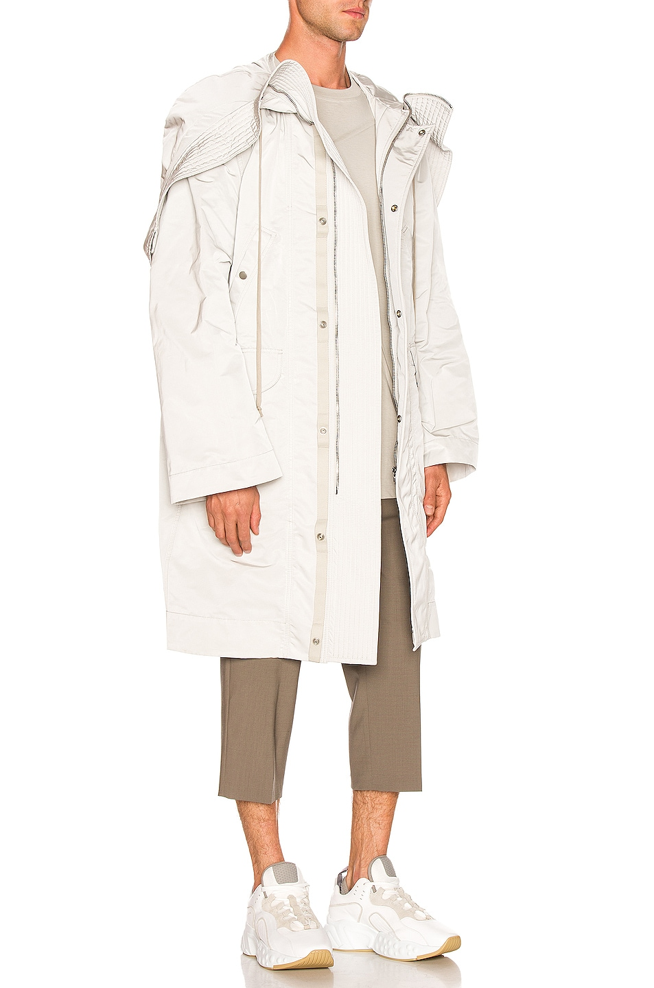 Image 3 of Rick Owens Technical Taffeta Parka in Oyster