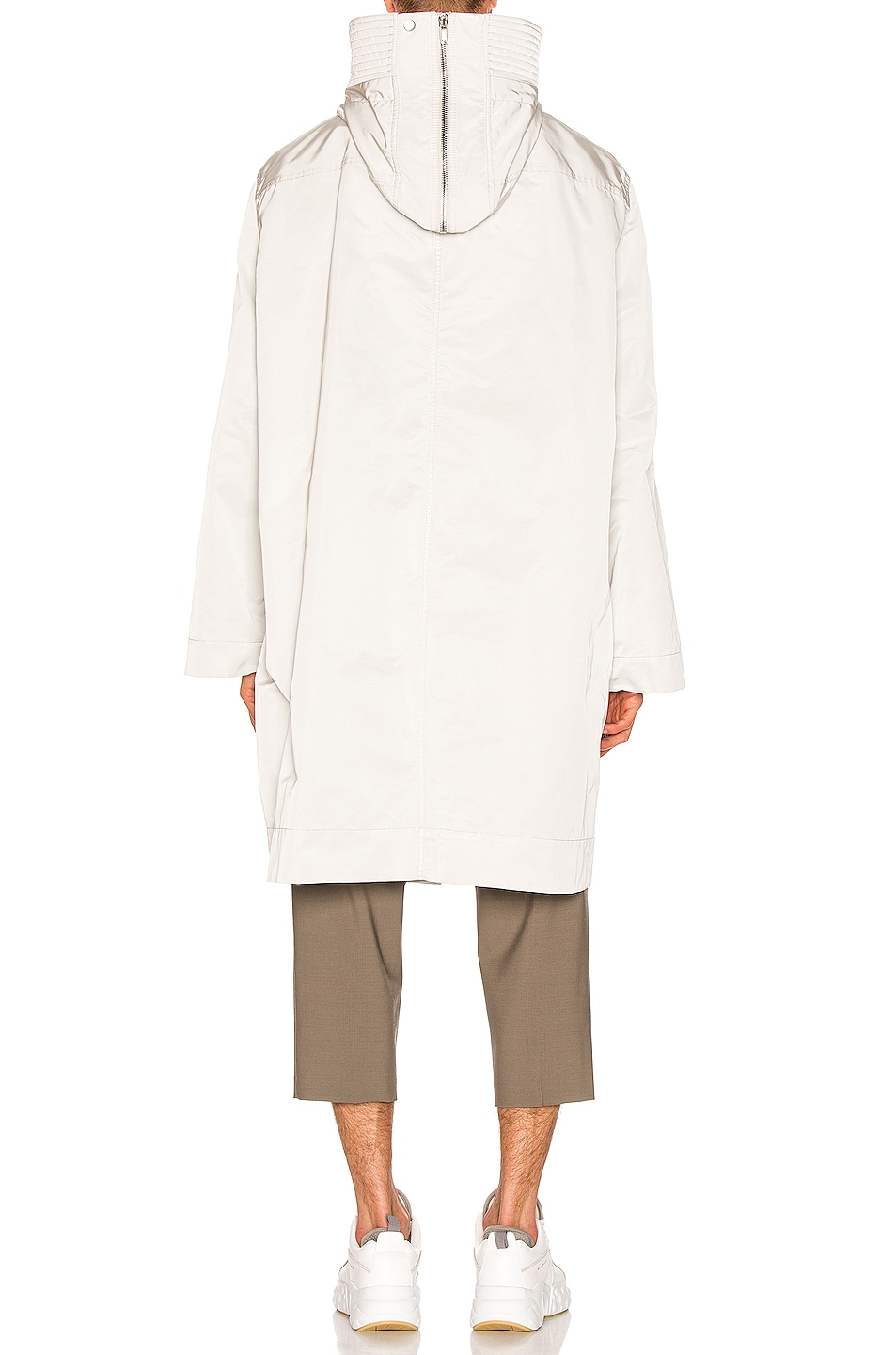 Image 4 of Rick Owens Technical Taffeta Parka in Oyster