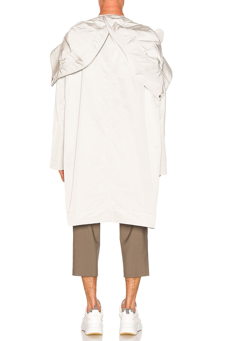 Image 5 of Rick Owens Technical Taffeta Parka in Oyster