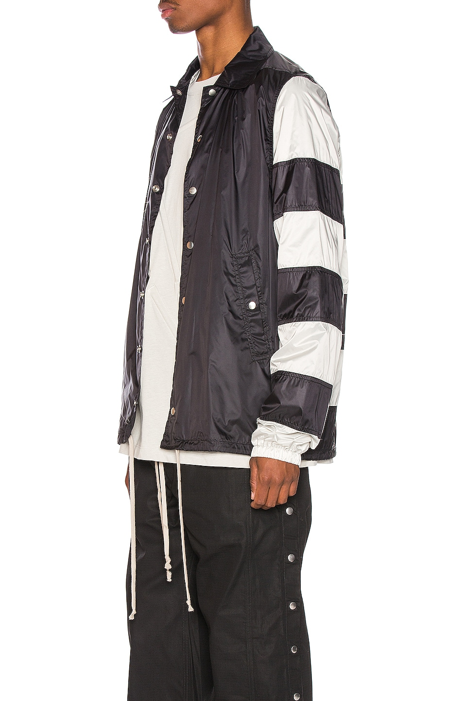 Image 4 of Rick Owens Snapfront Jacket in Black, Oyster & Pearl