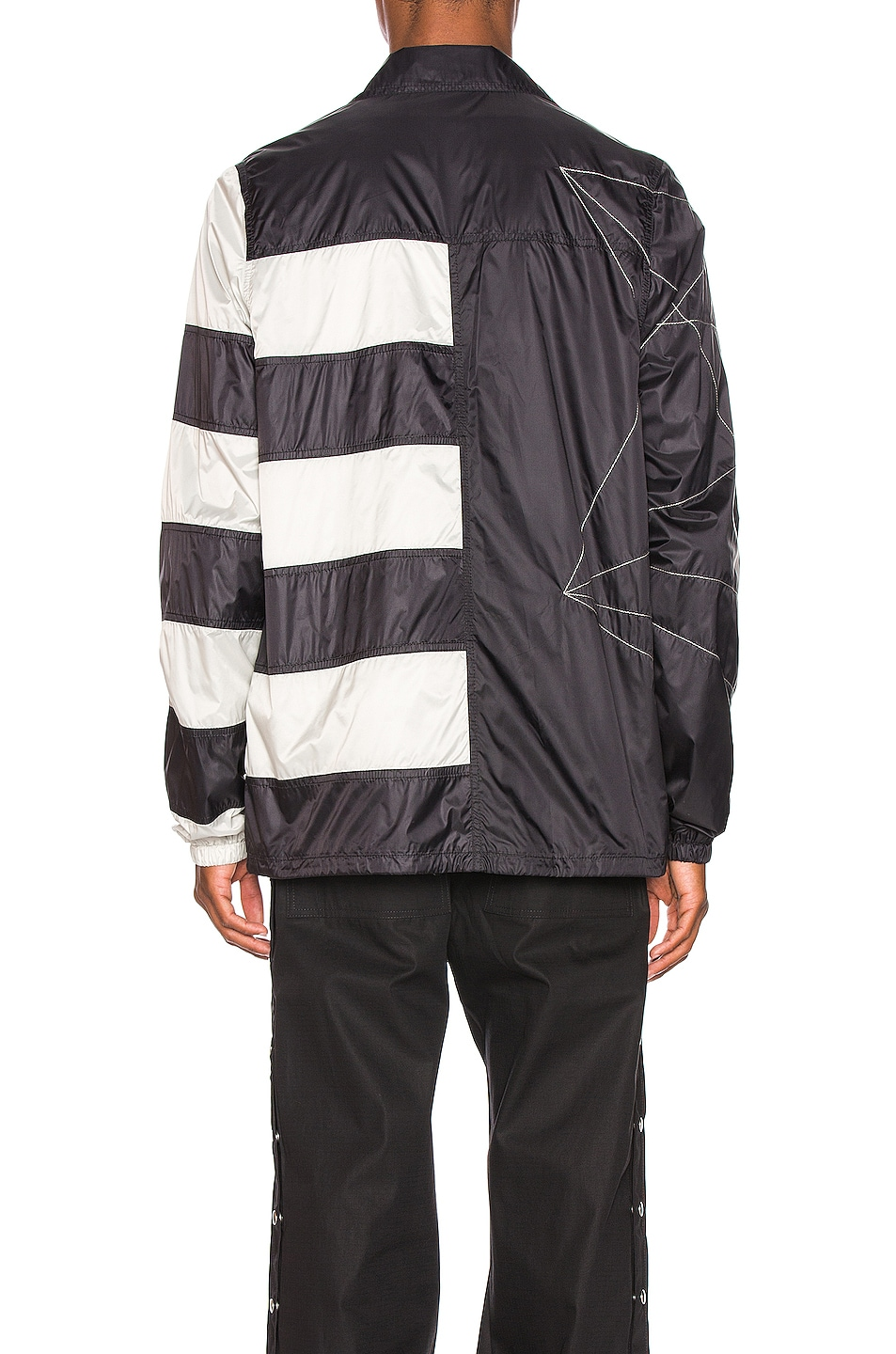 Image 5 of Rick Owens Snapfront Jacket in Black, Oyster & Pearl