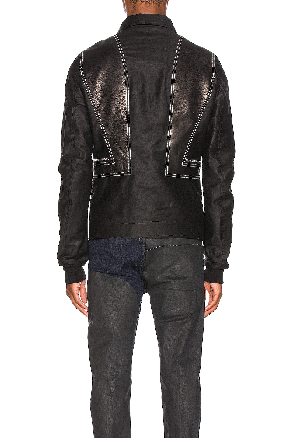 Image 4 of Rick Owens Rotterdam Harness Jacket in Black & Pearl