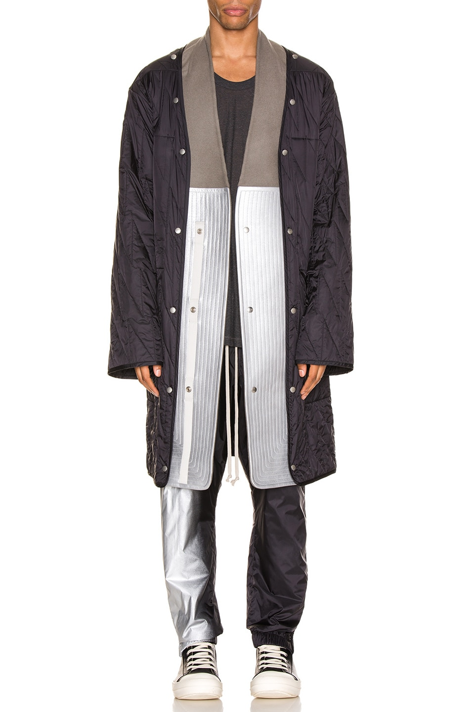 Image 1 of Rick Owens Quilted Parka Liner in Black