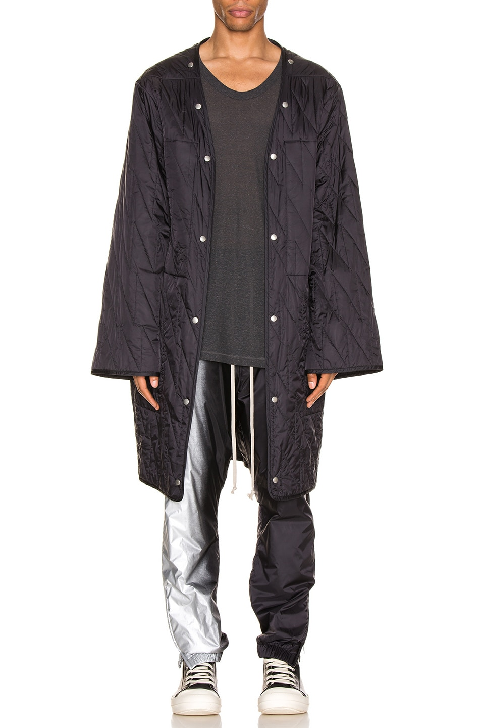 Image 2 of Rick Owens Quilted Parka Liner in Black
