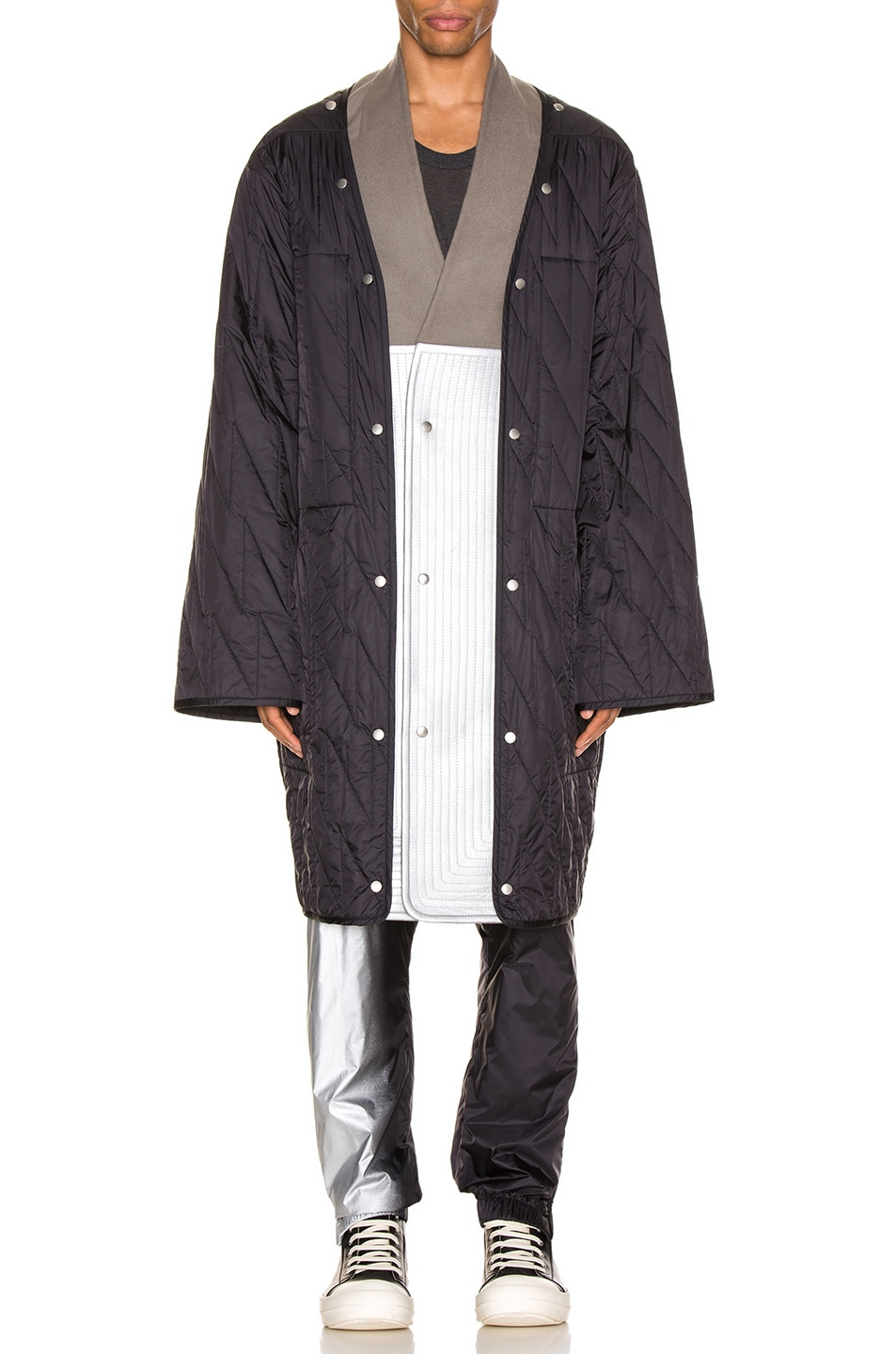 Image 3 of Rick Owens Quilted Parka Liner in Black