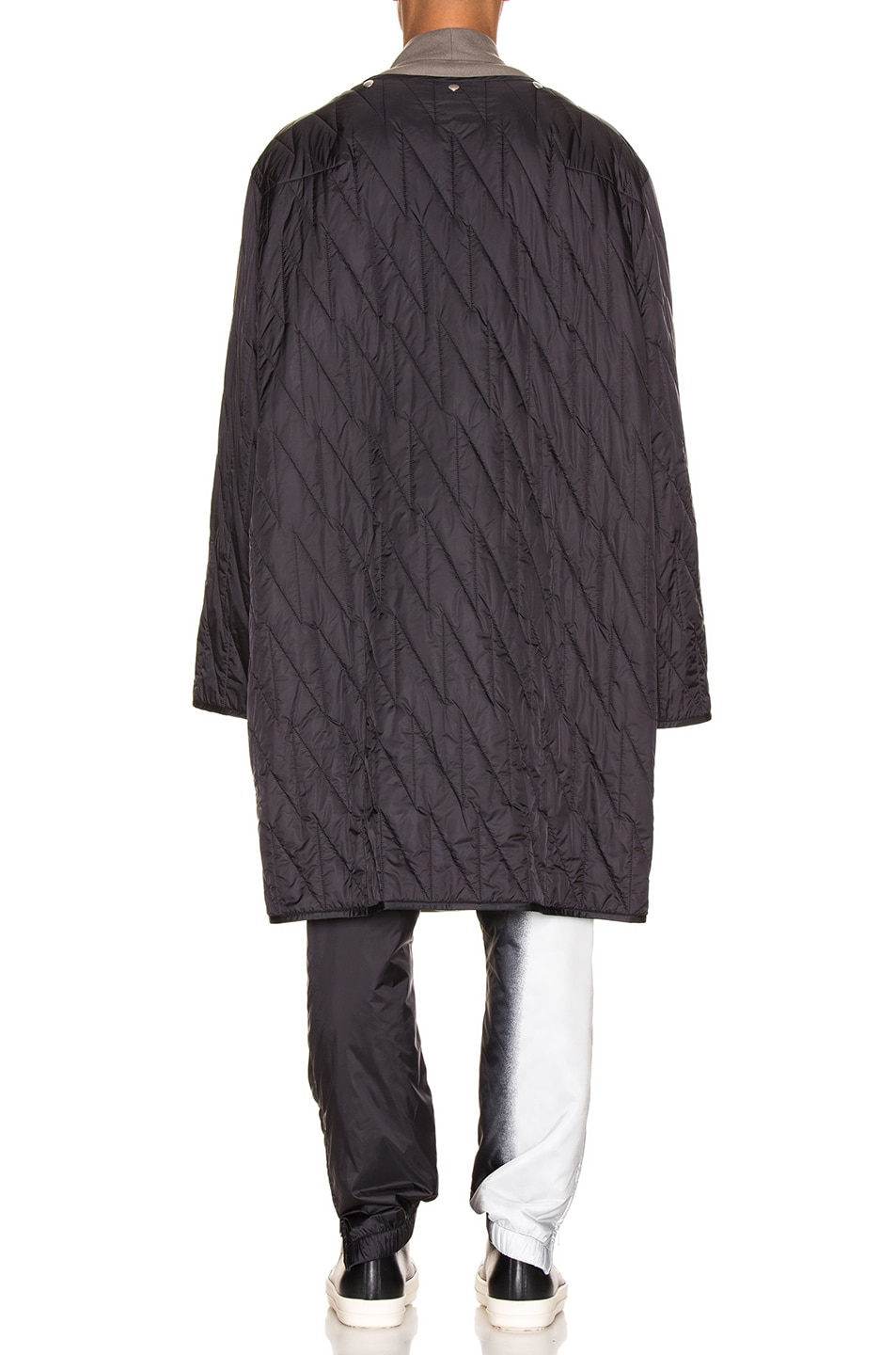 Image 5 of Rick Owens Quilted Parka Liner in Black