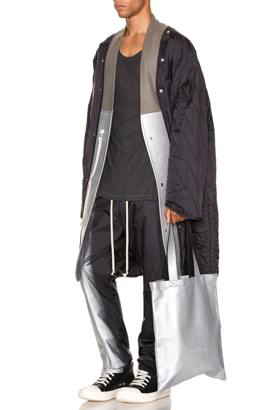 Image 6 of Rick Owens Quilted Parka Liner in Black