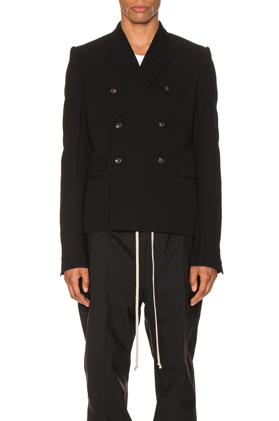 Image 2 of Rick Owens JMF Cropped Blazer in Black