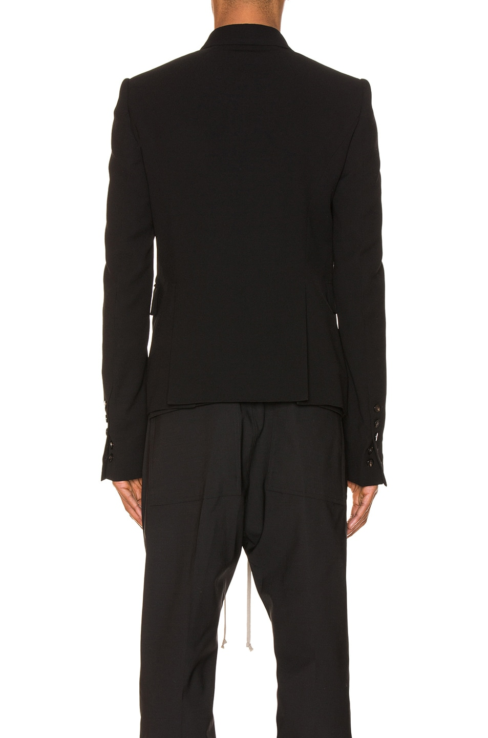 Image 4 of Rick Owens JMF Cropped Blazer in Black