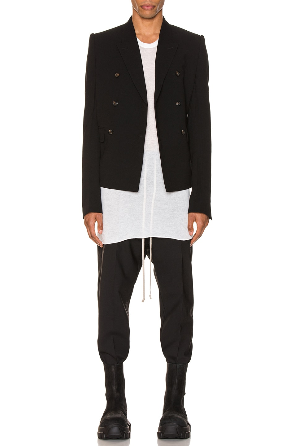 Image 5 of Rick Owens JMF Cropped Blazer in Black