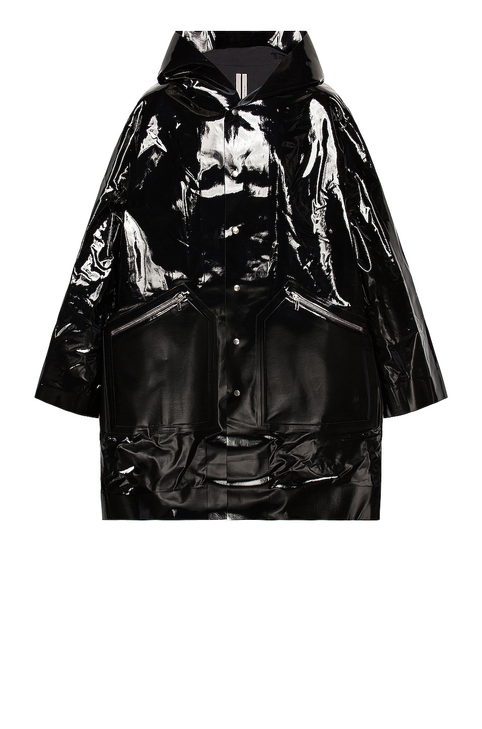 Image 1 of Rick Owens Hooded Parka in Black
