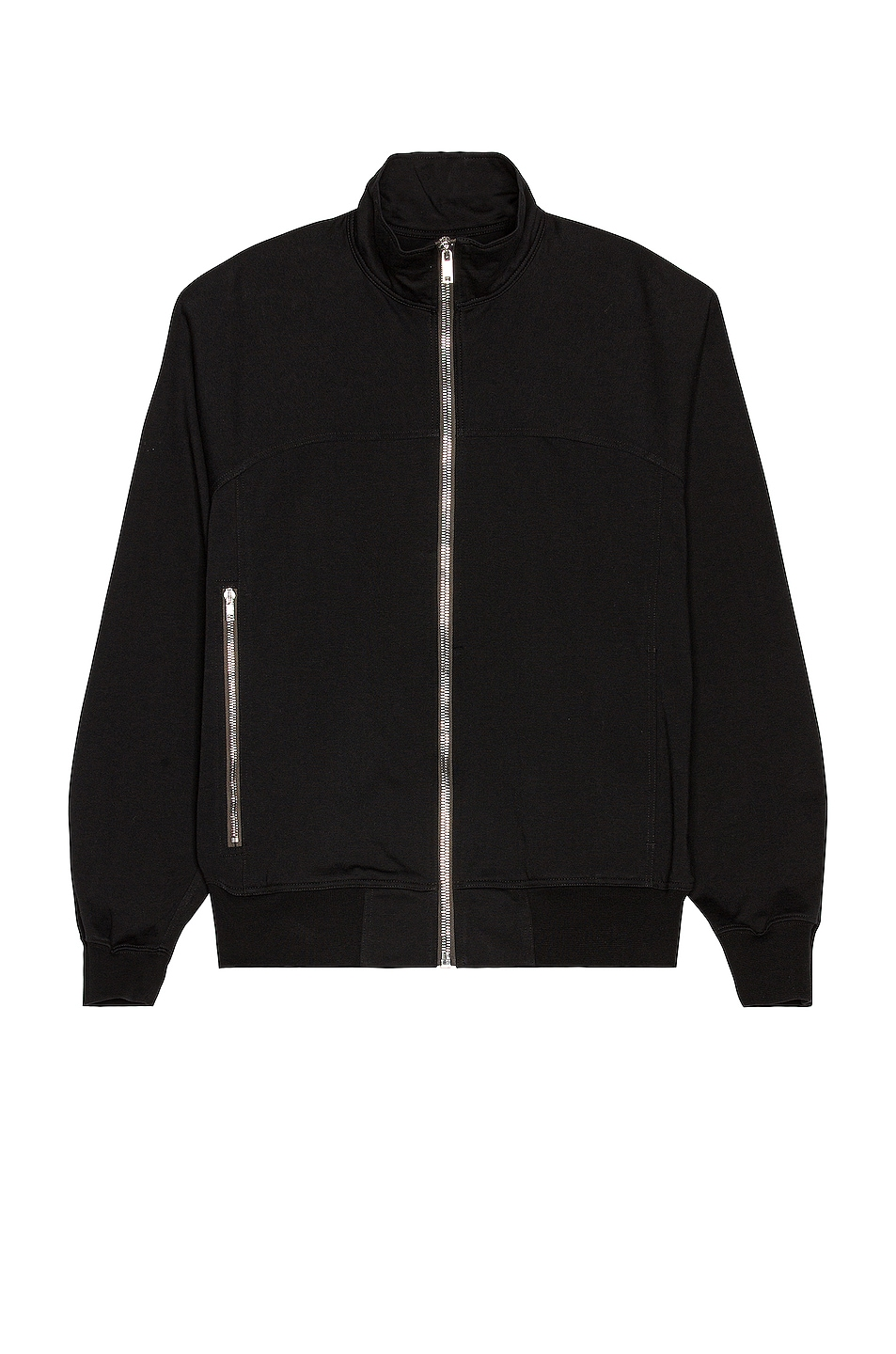 Image 1 of Rick Owens Zip Front Jacket in Black