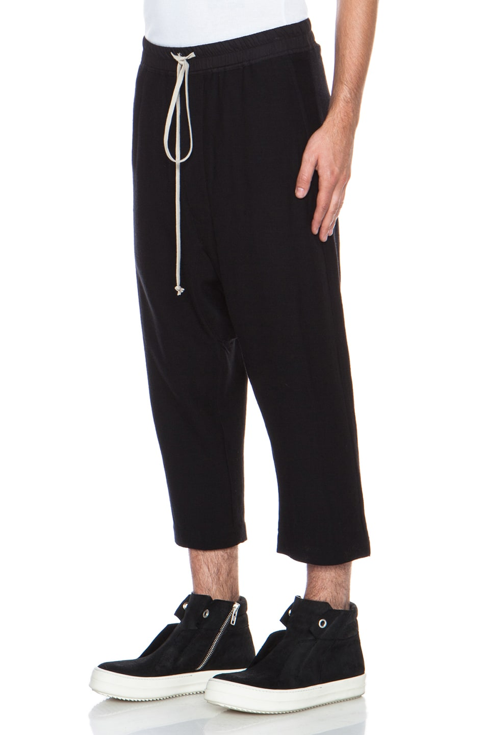 Clearance High Quality Drawstring Cropped pants - Black Rick Owens Cheap Sale Official ocIPg