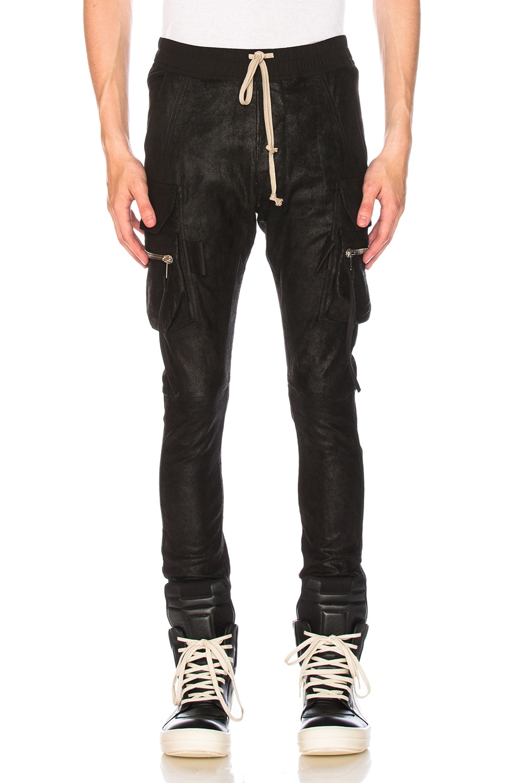 2ec841d2f3003b Image 1 of Rick Owens Cargo Jog Pants in Black