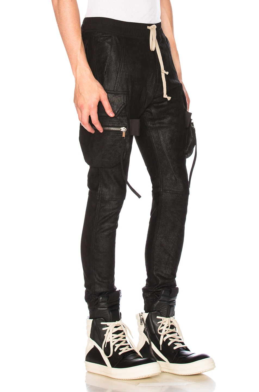 3a3bfb949284ed Image 2 of Rick Owens Cargo Jog Pants in Black