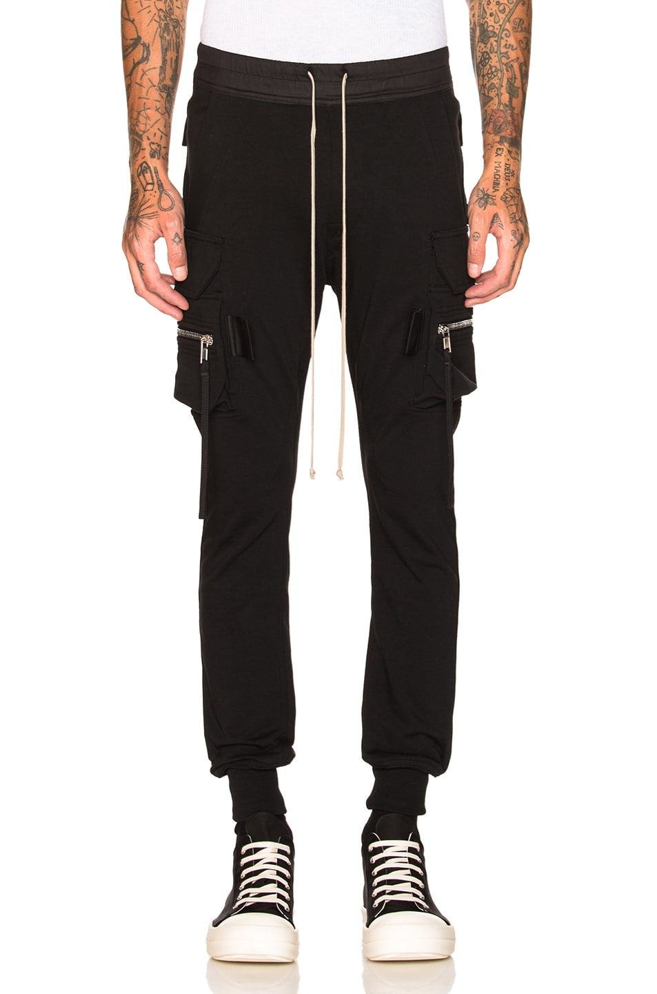 ccc65f99431a4 Image 1 of Rick Owens Cargo Jog in Black