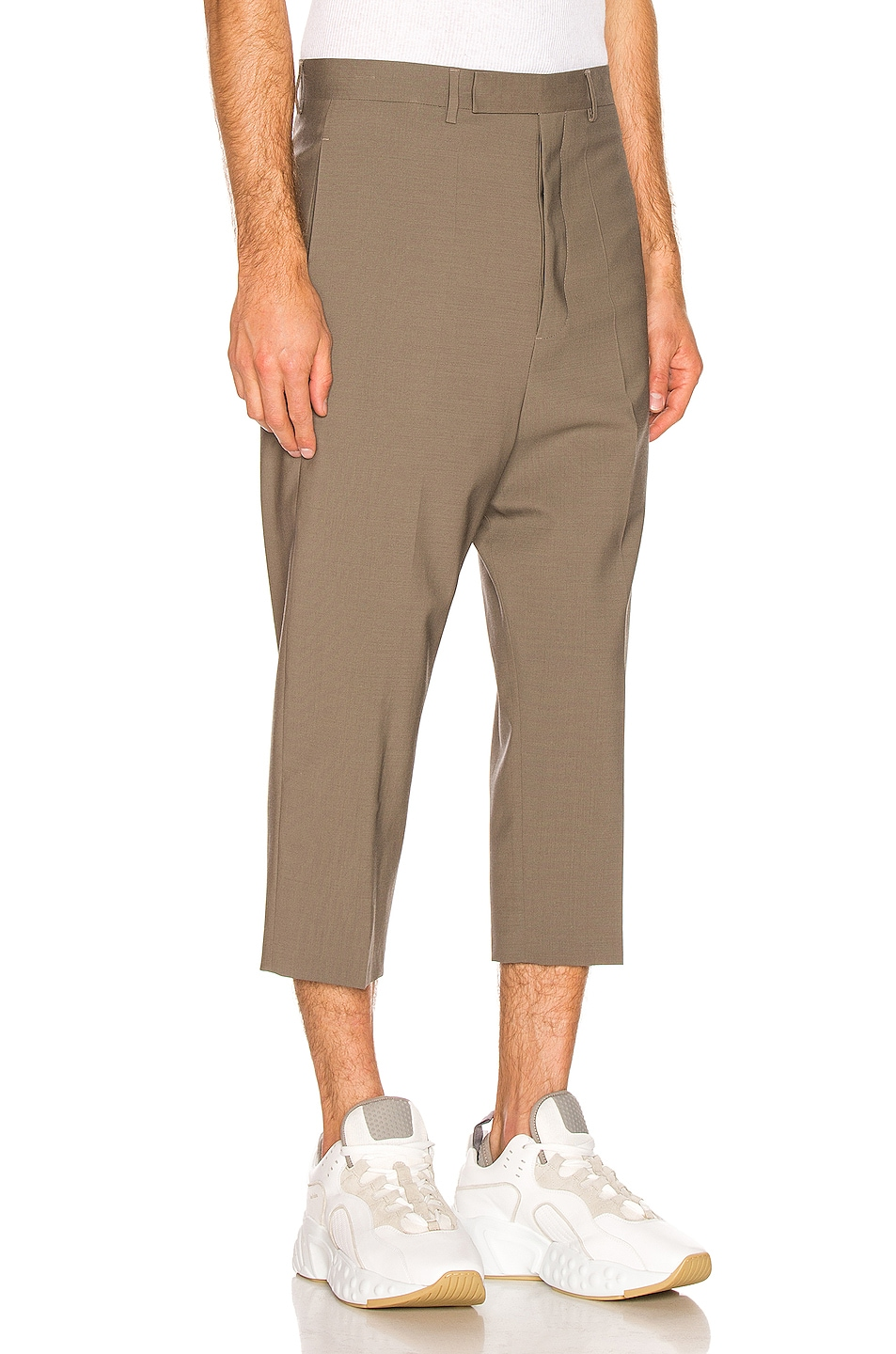 Image 2 of Rick Owens Cropped Astaire Trouser in Dust