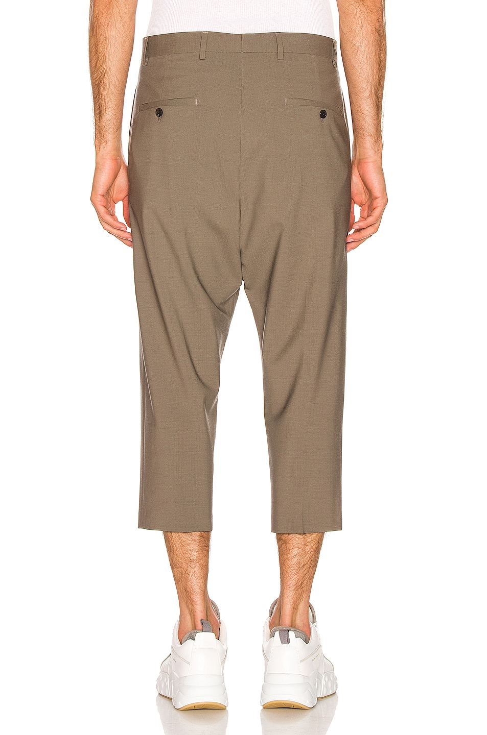 Image 3 of Rick Owens Cropped Astaire Trouser in Dust