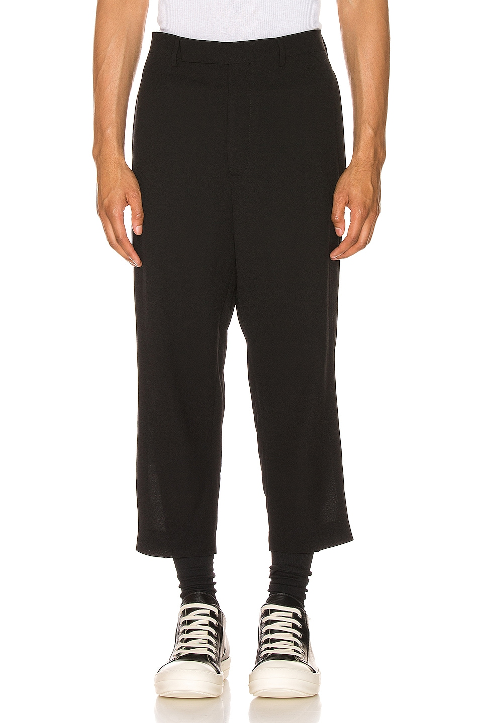 Image 1 of Rick Owens Slim Cropped Astaires Trousers in Black