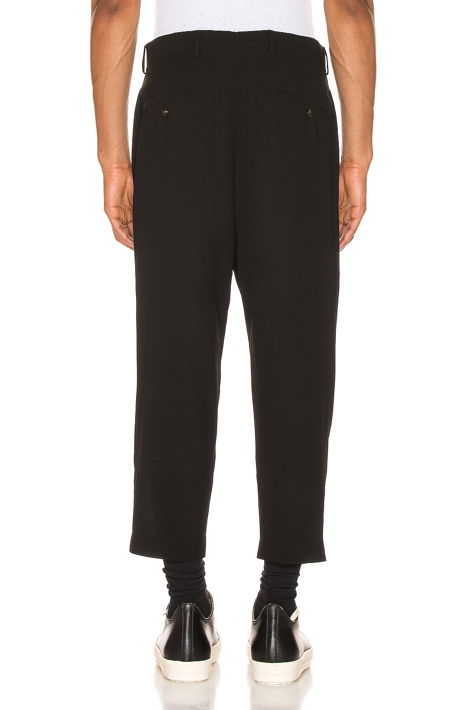 Image 3 of Rick Owens Slim Cropped Astaires Trousers in Black