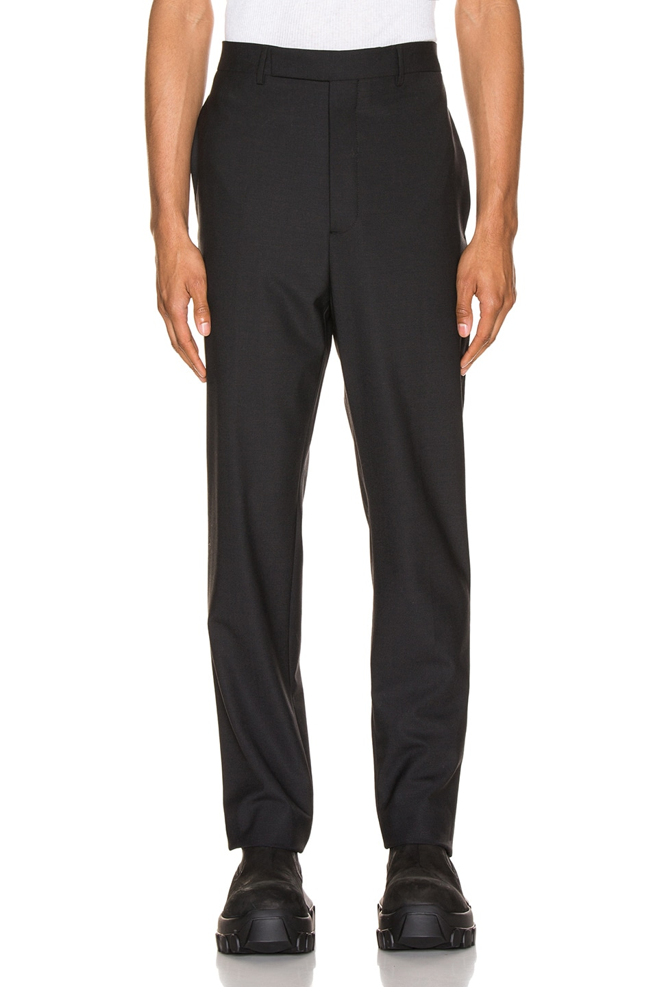 Image 1 of Rick Owens Slim Long Astaires in Black