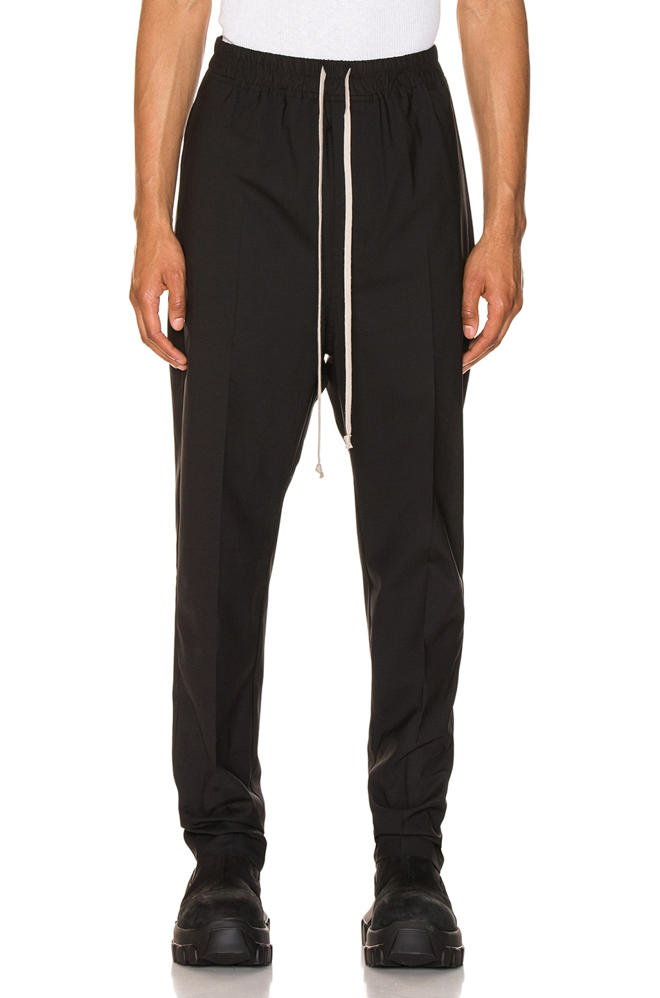 Image 1 of Rick Owens Drawstring Astaires Long in Black