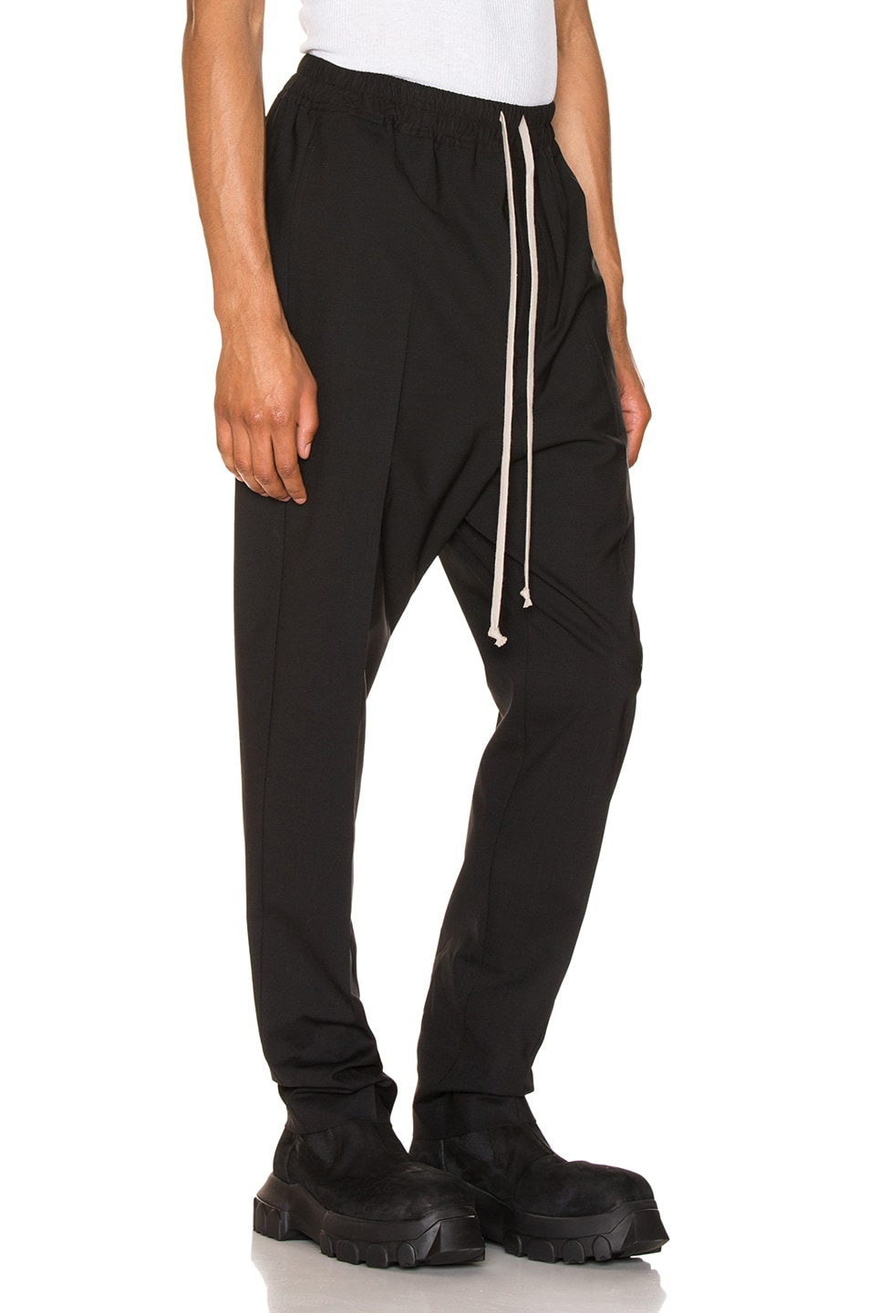 Image 2 of Rick Owens Drawstring Astaires Long in Black