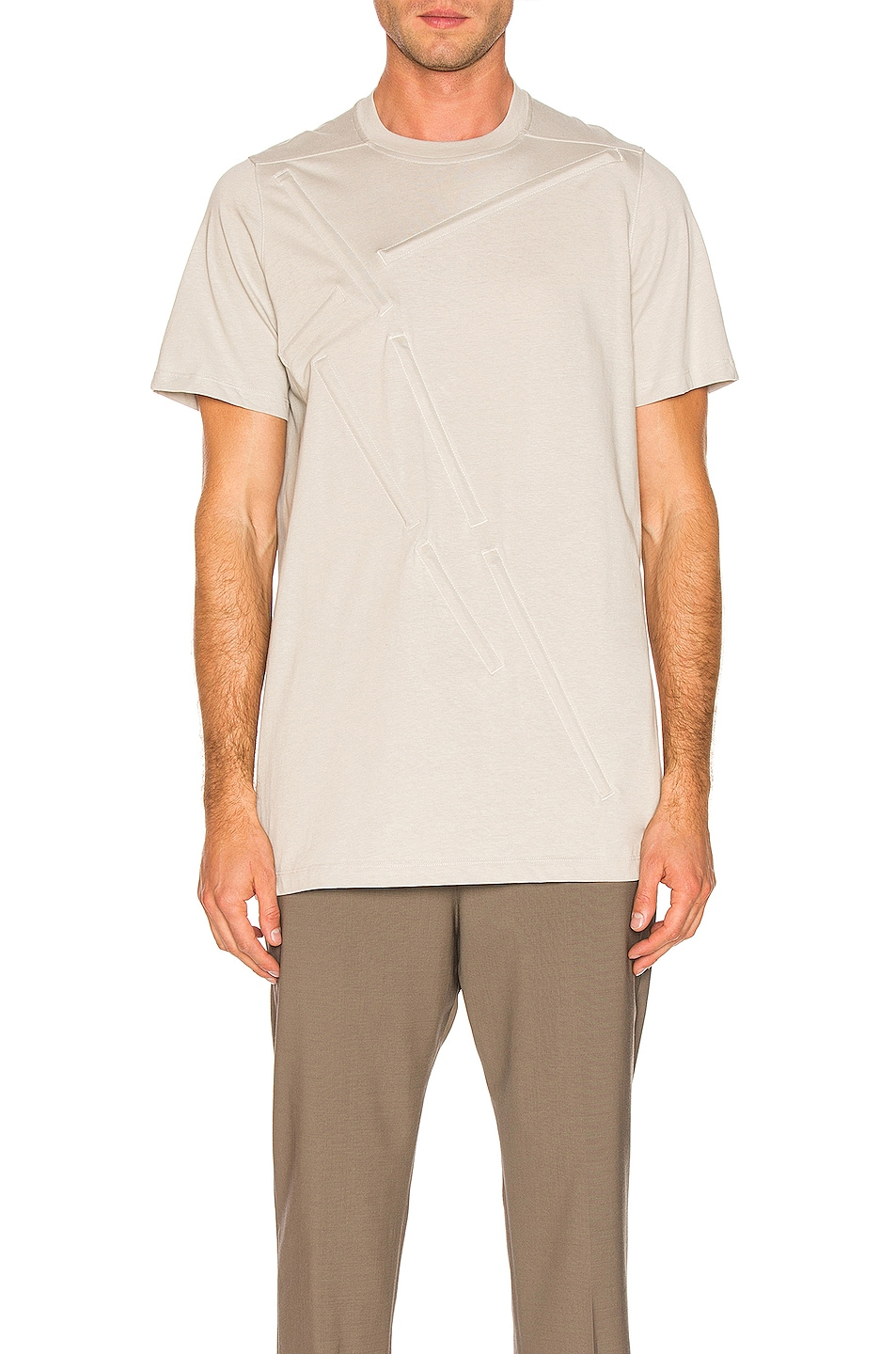 Image 1 of Rick Owens Loose Rod Tee in Oyster