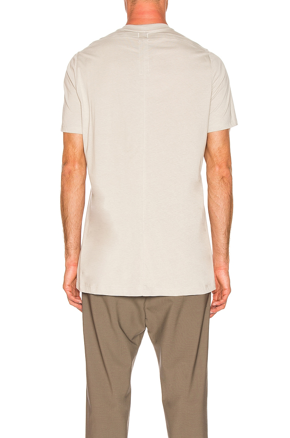 Image 3 of Rick Owens Loose Rod Tee in Oyster