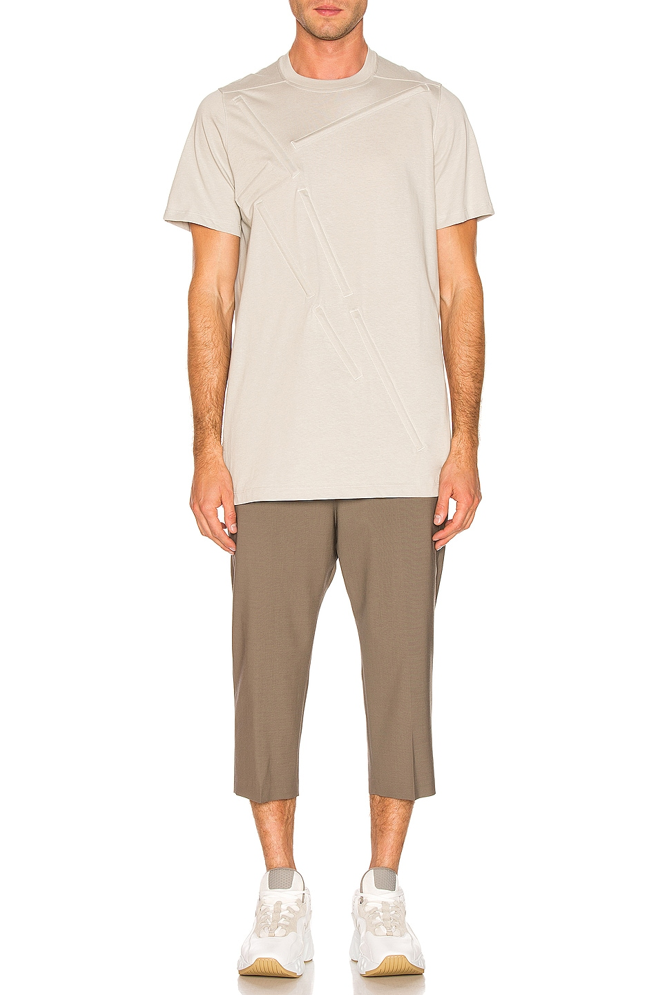Image 4 of Rick Owens Loose Rod Tee in Oyster