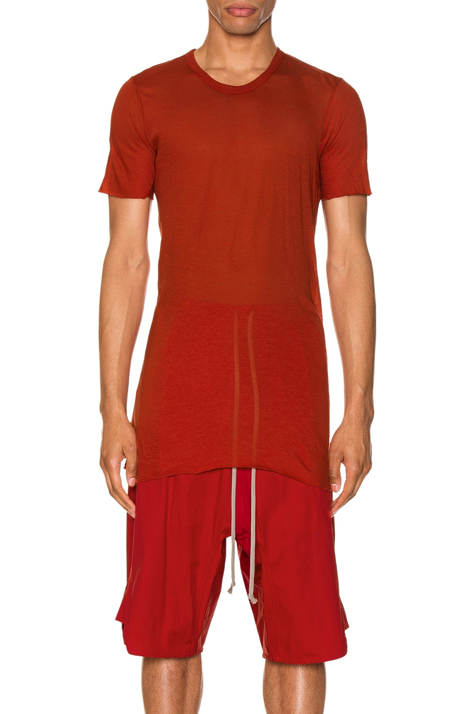 Image 1 of Rick Owens Basic Tee in Cardinal Red