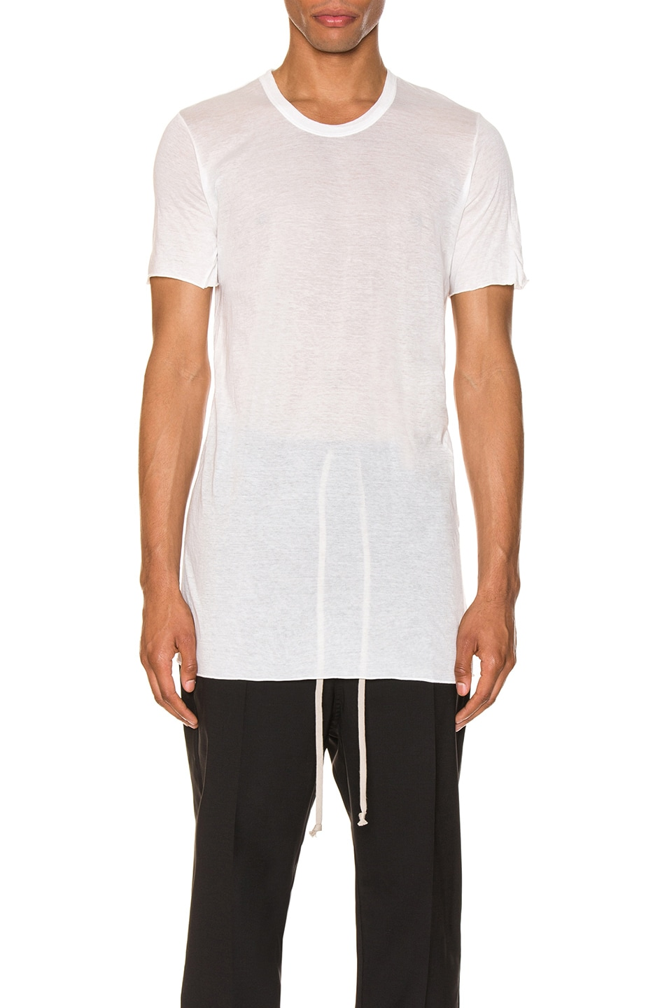 Image 1 of Rick Owens Basic Tee in Milk