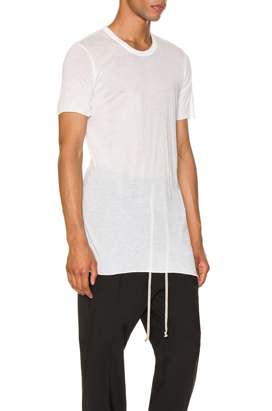 Image 2 of Rick Owens Basic Tee in Milk