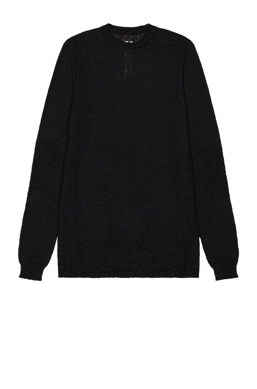 Image 1 of Rick Owens Biker Level Roundneck Sweater in Black