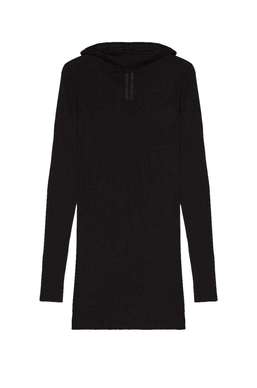 Image 1 of Rick Owens Hooded Long Sleeve Shirt in Black