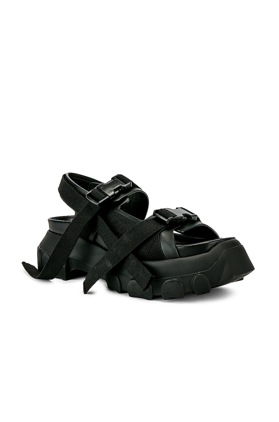 Image 1 of Rick Owens Tractor Sandals in Black
