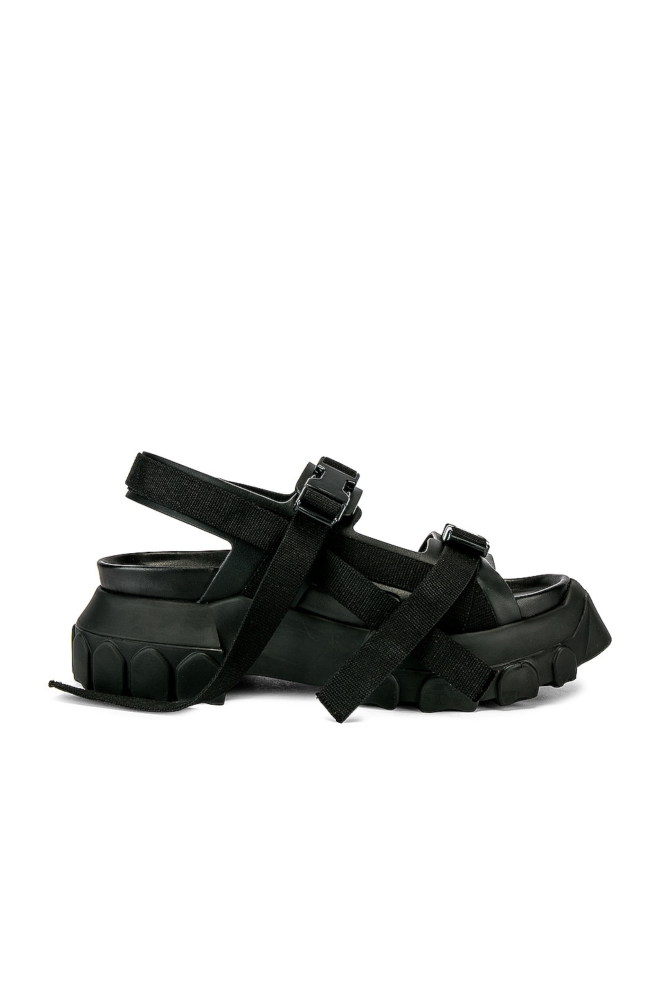 Image 2 of Rick Owens Tractor Sandals in Black