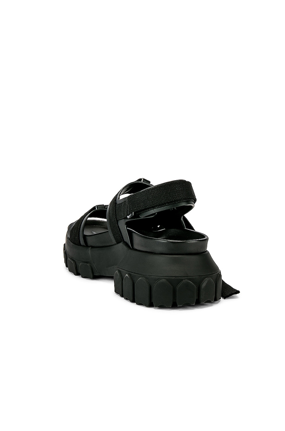 Image 3 of Rick Owens Tractor Sandals in Black