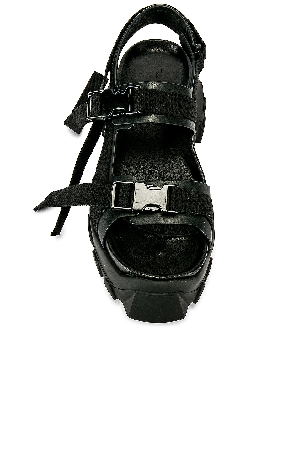 Image 4 of Rick Owens Tractor Sandals in Black