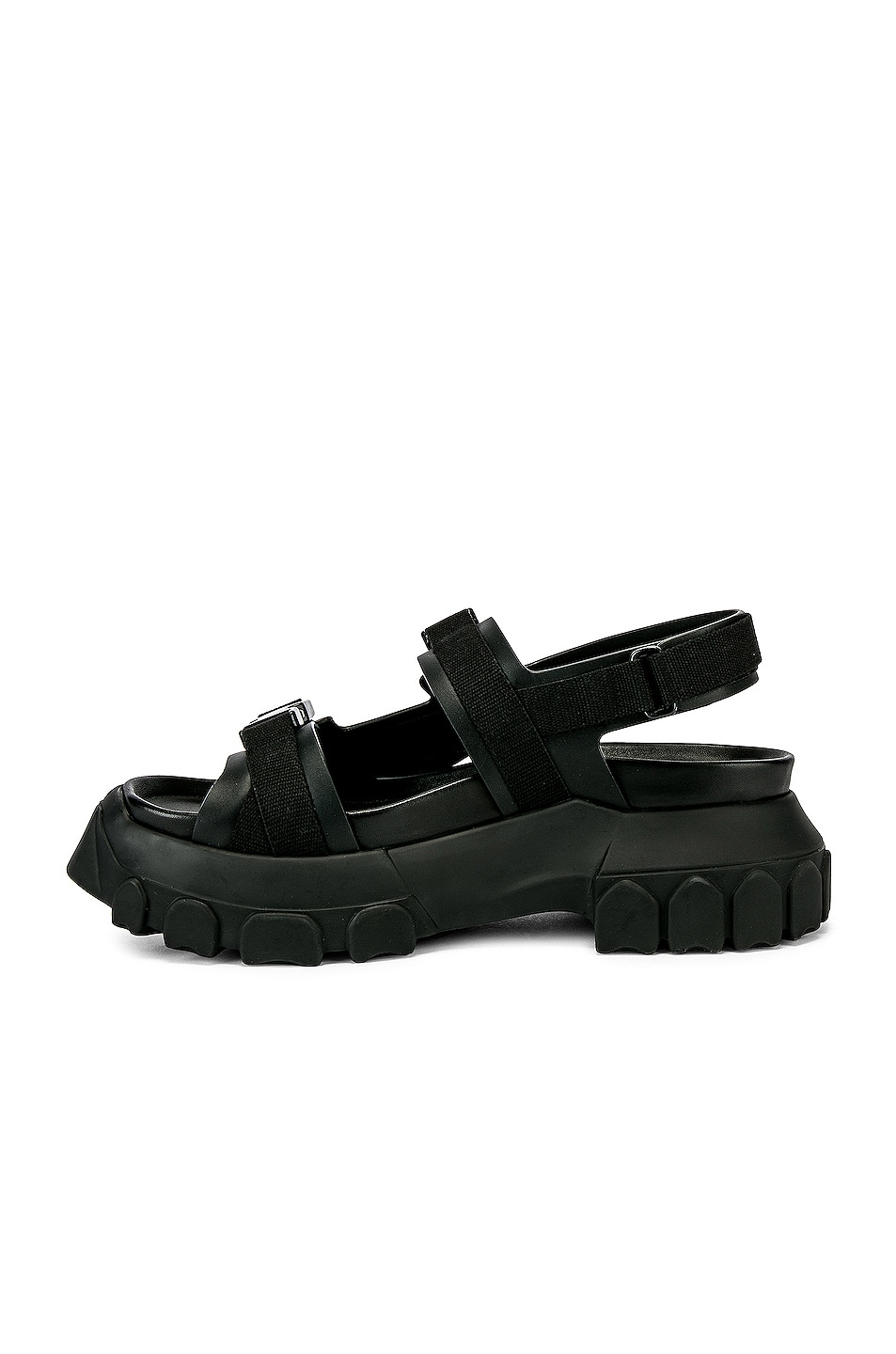 Image 5 of Rick Owens Tractor Sandals in Black