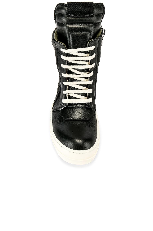 Image 4 of Rick Owens Geobasket Sneakers in Black