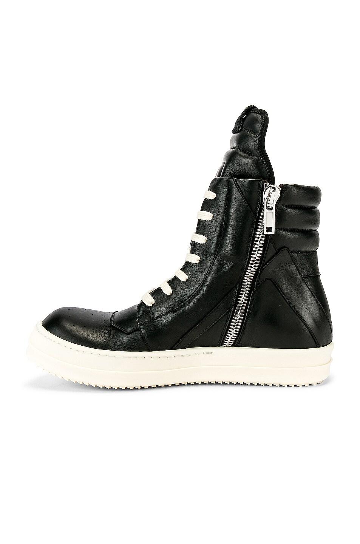 Image 5 of Rick Owens Geobasket Sneakers in Black