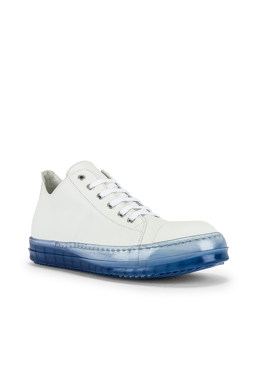 Image 1 of Rick Owens Low Top Sneaker in Chalk White & Nublu