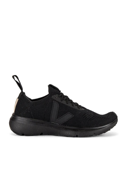 Image 1 of Rick Owens Veja Low Sock Sneaker in Black
