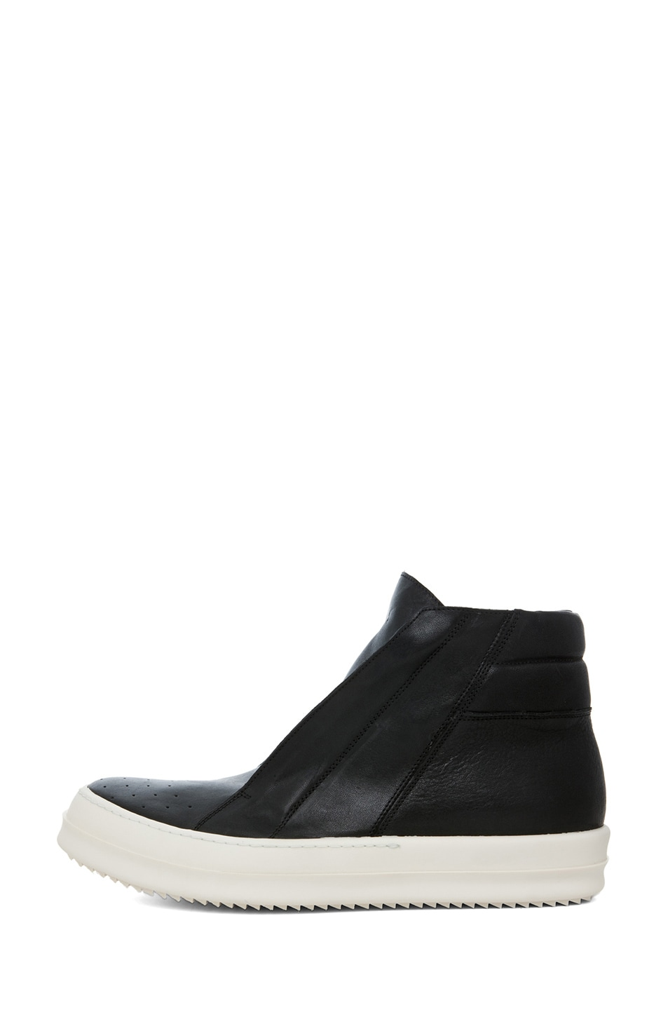 Image 1 of Rick Owens Island Dunk Sneaker in Black & White
