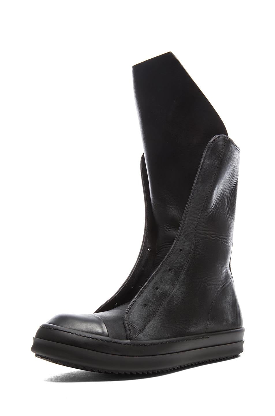 Rick Owens Leather Boots Discount Choice Clearance Very Cheap Buy Cheap Price Many Styles Order Cheap Price 5RNLAbN0tH