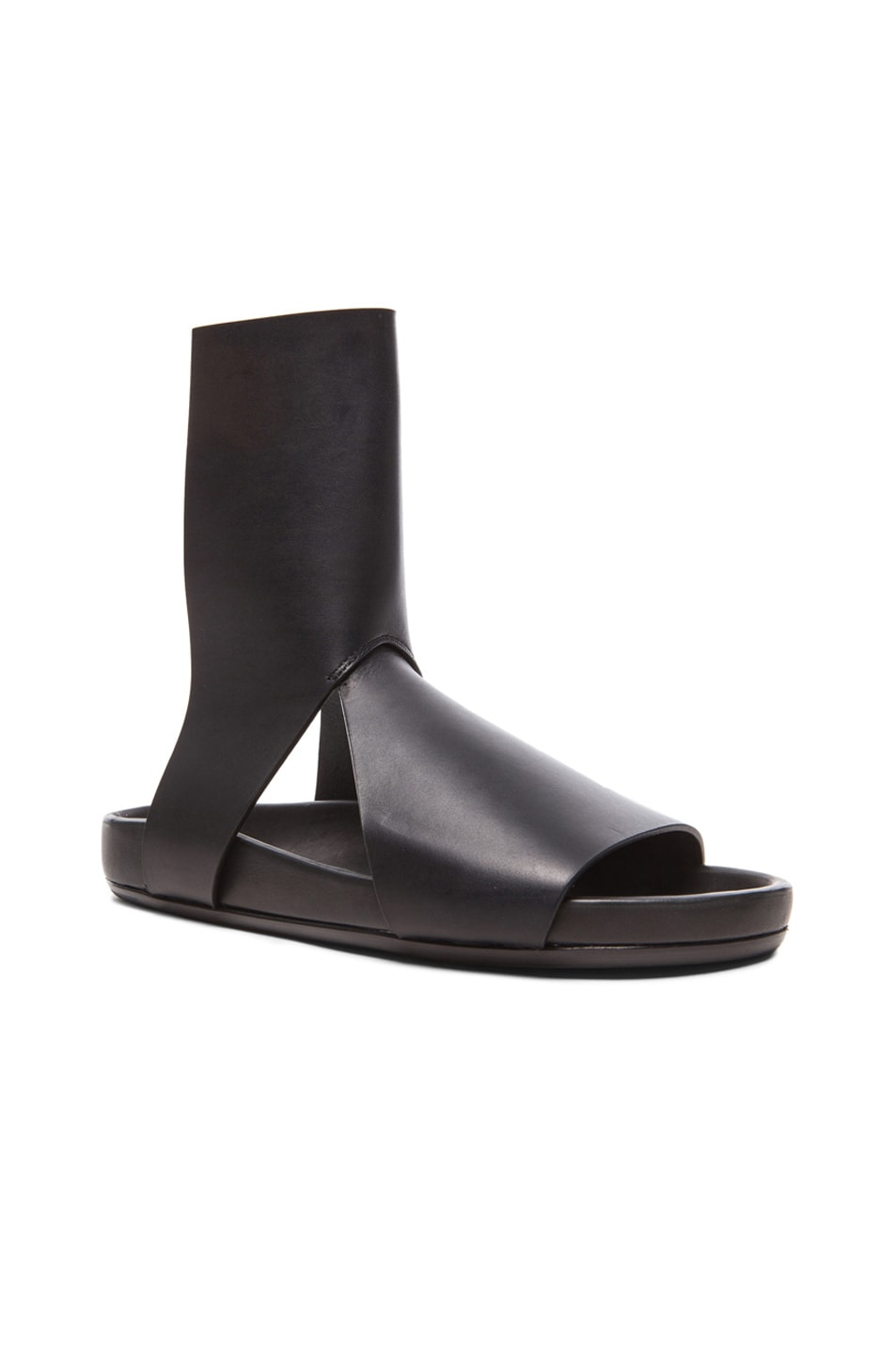 a90081394aad Image 1 of Rick Owens Spartan Granola Leather Sandals in Black