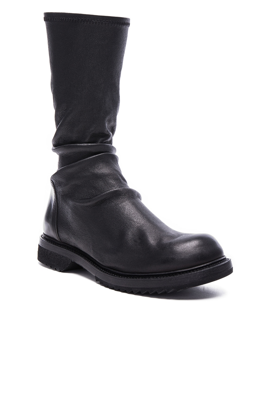 Image 1 of Rick Owens Creeper Stretch Leather in Black